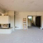 Kamineinbau, Spachtel- und Putzarbeiten